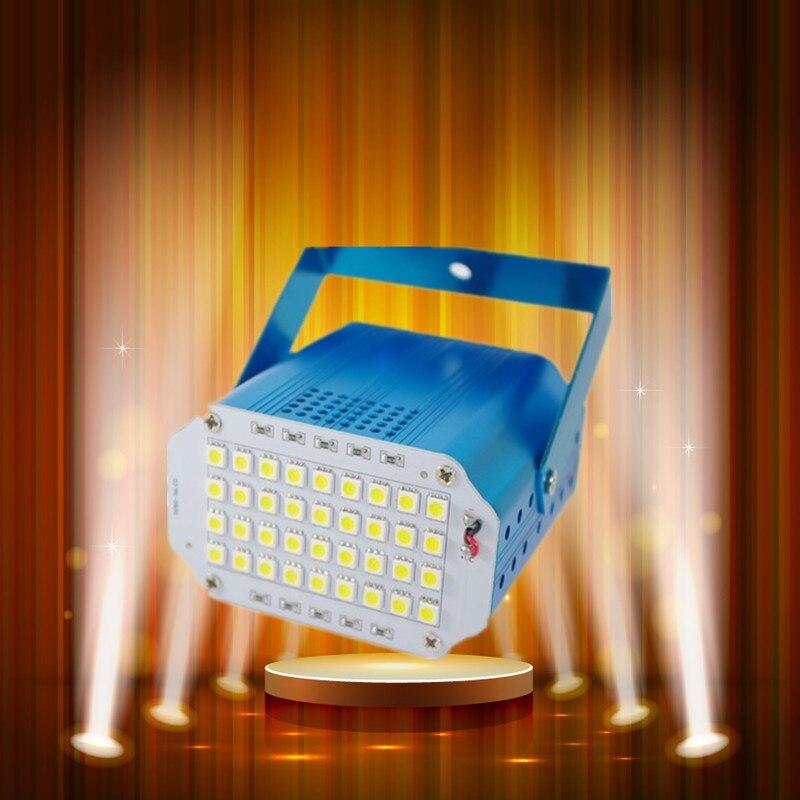 Mini 36pcs LED Stage Light DJ Strobe Light Flash Light Club Party Festa Disco DJ Stroboscope Bulb 220V White Color Free Shipping