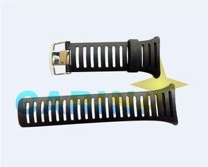 Image 4 - Ücretsiz Kargo Orijinal 25mm Siyah silikon kauçuk saat Kayışı Su Geçirmez spor saat Bandı WristsWatch Sunroad FR802 FR720