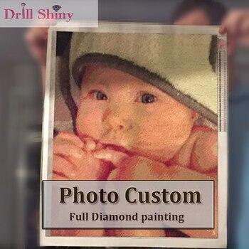 Boor Shiny Nieuwjaar 3D Diy Diamant Schilderen Persoonlijke Foto Custom Volledige Vierkante Prive Foto Borduurwerk Dier Kruissteek