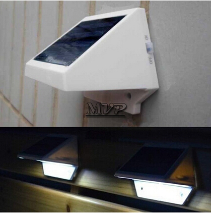 Colorpai 4pcs/lot wram white/white color solar Led Wall Lamps Outdoor Solar Led Lights Waterproof For Fence Garden Home