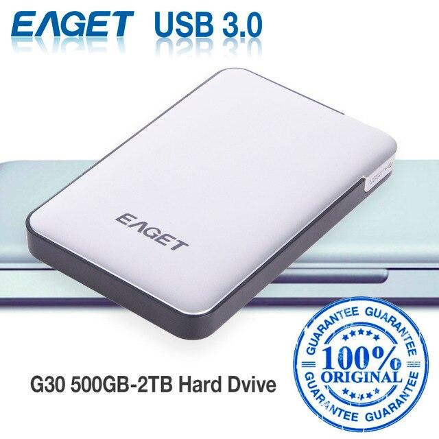 Eaget g30 оригинальный 500 ГБ 2 ТБ внешние жесткие диски жесткие диски usb 3.0 high-speed ударопрочный шифрования рабочего ноутбука мобильный жесткий диск