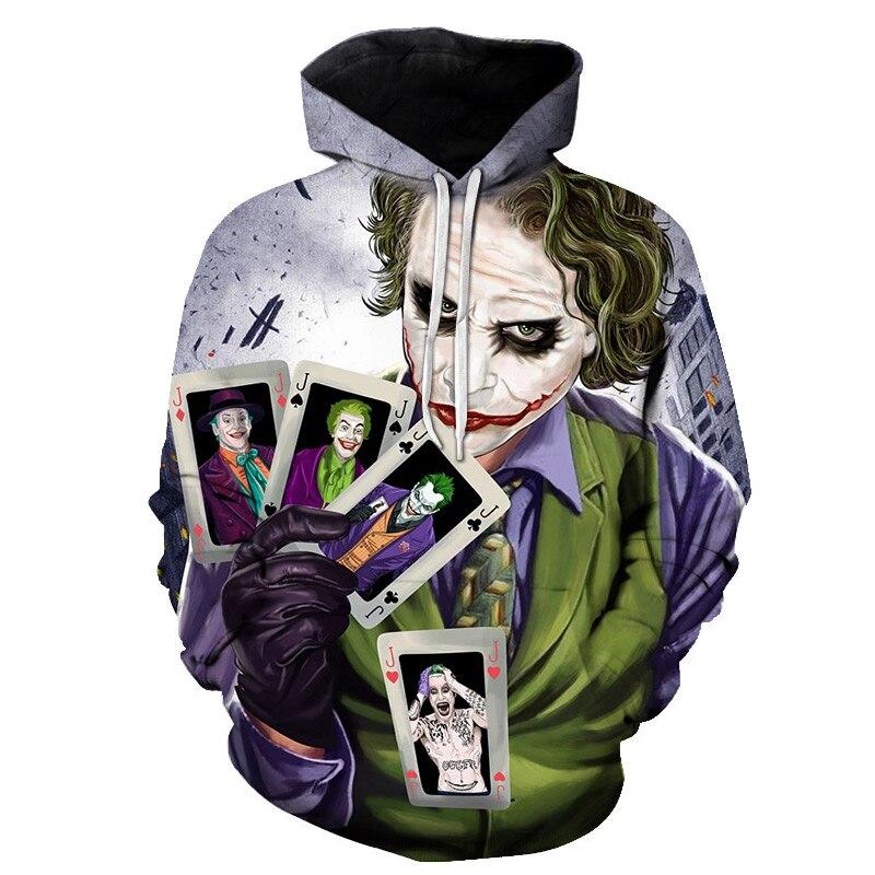 2019 New Joker Sweatshirts Men Brand Hoodies Suicide Squad Deadshot 3D Printing Hoodie Male Casual Tracksuits Tops 6XL