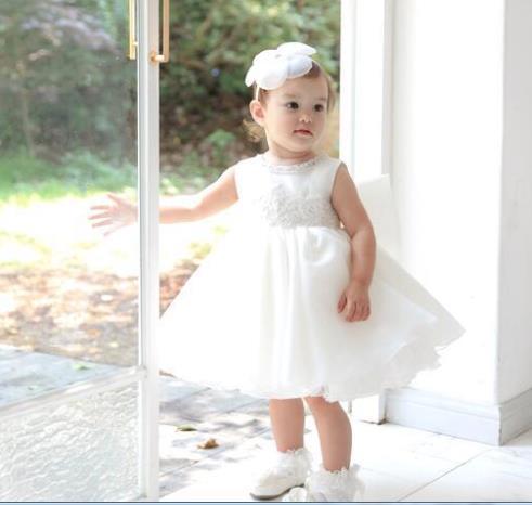 Baby Girl Dress Baby Summer Chiffon Flower Dress Baby Girl Clothes Newborn Girl Birthday Princess baptism  Dress 3M-24M