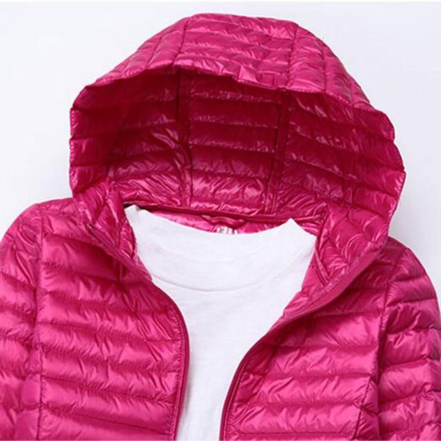 SEDUTMO Winter Long Ultra Light Duck Down Jackets Women  Down Coat Spring Puffer Jacket Slim Hooded Parkas ED230 5