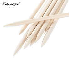 Lily angel 10pcs/bag 12.5cm Nail Art Small Wood Stick  Cuticle Pusher Remover for Beauty Nail Art Care Manicures nail tools  Z15