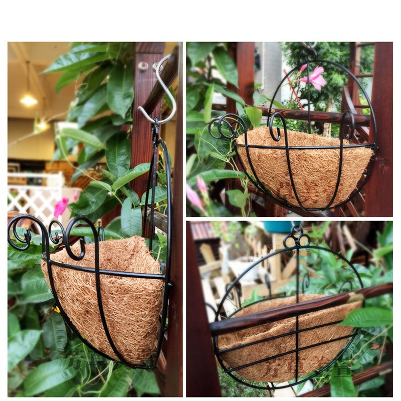 Flower pots iron coconut diy garden hanging planters wall baskets flower pots iron coconut diy garden hanging planters wall baskets pot hanging basket flower pot plastic flower pots in flower pots planters from home workwithnaturefo