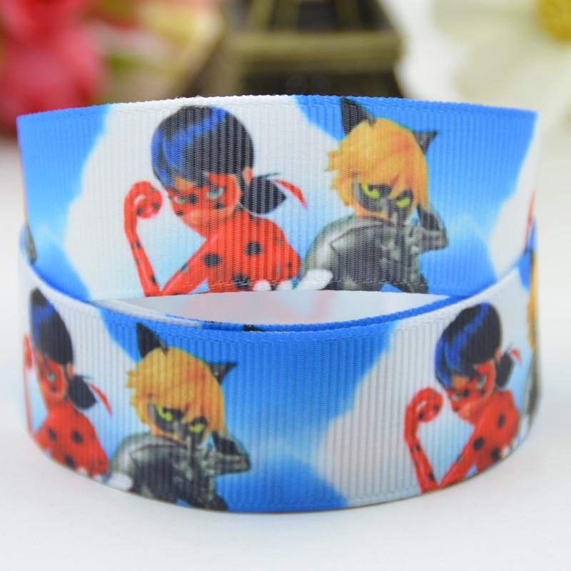 7/8 »(22 мм) lady Bug с героями мультфильмов Grosgrain ленты вечерние украшения, атласные ленты x-01423 OEM 10 метров