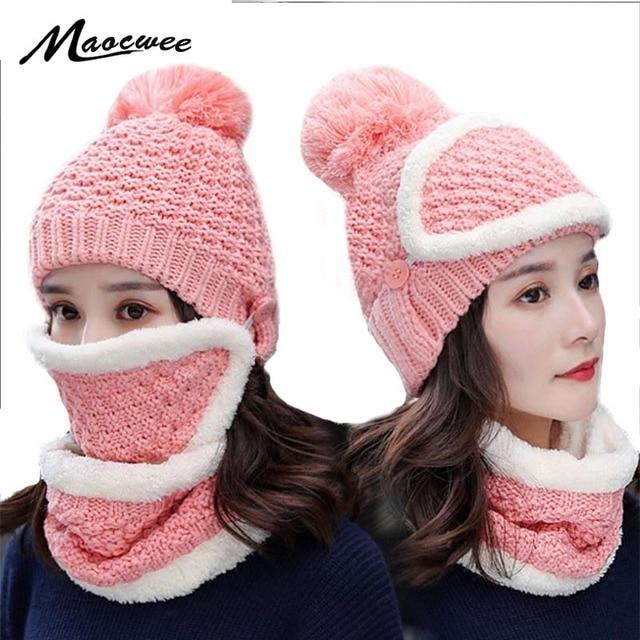 1dc53fdd648 Neck Warmer Ski Cap and Scarf Sets Winter Hat for Women Men Motorcycle Skull  Face Mask