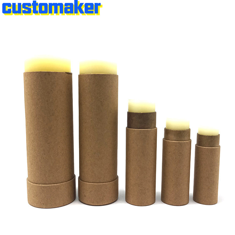 50PCS Eco Friendly Environmental Protection Push Type Paper Lip Push Up Tube Paper Empty Tube For Lip Balm Cylinder Spot