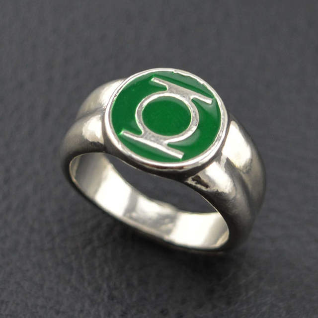 Online Shop Dc Comics Green Lantern Ring Silver For Mens Movie