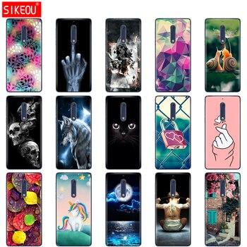 Перейти на Алиэкспресс и купить Силиконовый чехол для Nokia 1 2 2,1 3 3,1 5 5,1 plus 2018 Мягкий ТПУ чехол противоударный чехол бампер Кот Цветок