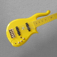 Very cool Cloud bass electric guitar yellow 5 strings Factory wholesale and retail Free shipping