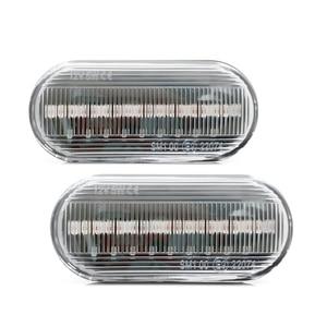 Image 2 - Flowing Water Car Side Marker Light Blinker Amber Smoke LED Dynamic Turn Signal Lamp for VW Bora Golf 3 4 Passat 3BG Polo SB6