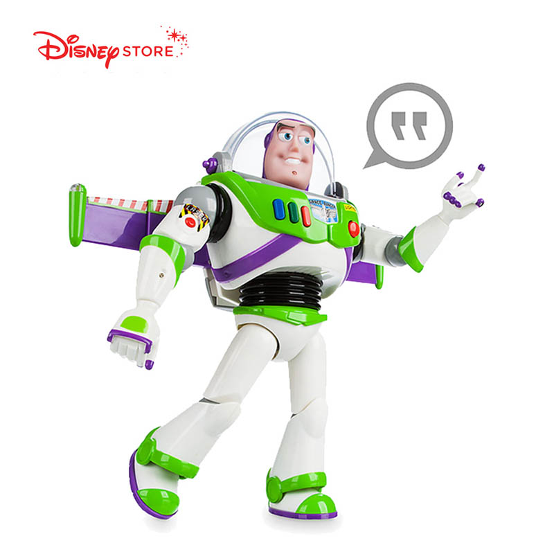 Disney 35CM grande Action jouet figurines poupée multilingue vocal brillant jouet histoire Buzz Lightyear jouet poupée main jouet pour enfants