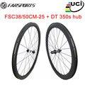 Карбоновые колеса для езды на дальних спортивных велосипедах  углеродные диски 38 мм 50 мм  высокотемпературный тормоз из смолы  700C
