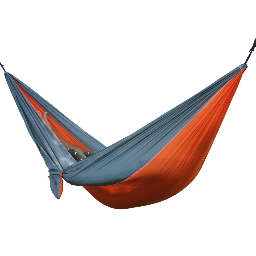 Double Person Outdoor Hammock Portable Parachute Hammocks 6 Colors Hanging Bed For Camping Hiking Travel Kits thicken canvas single camping hammock outdoors durable breathable 280x80cm hammocks like parachute for traveling bushwalking