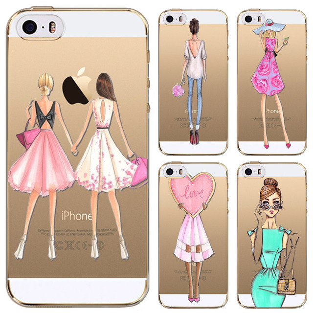 coque iphone 4 fille silicone