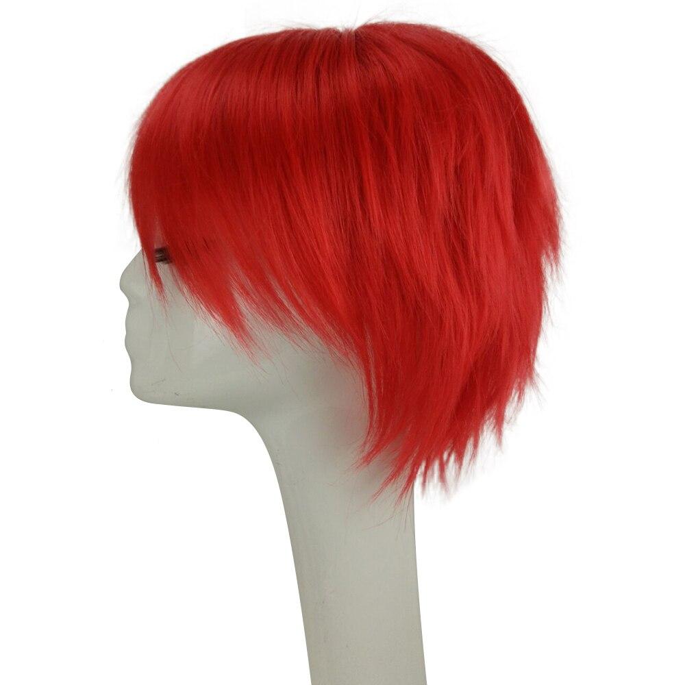 HAIRJOY Röd Grön Blå Brun Rosa Orange Cosplay Wig Mäns - Syntetiskt hår - Foto 2