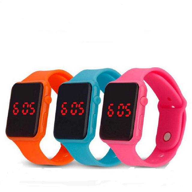Cool Sport LED Student Watch Silicone Clock Timer children's watches relogio fem