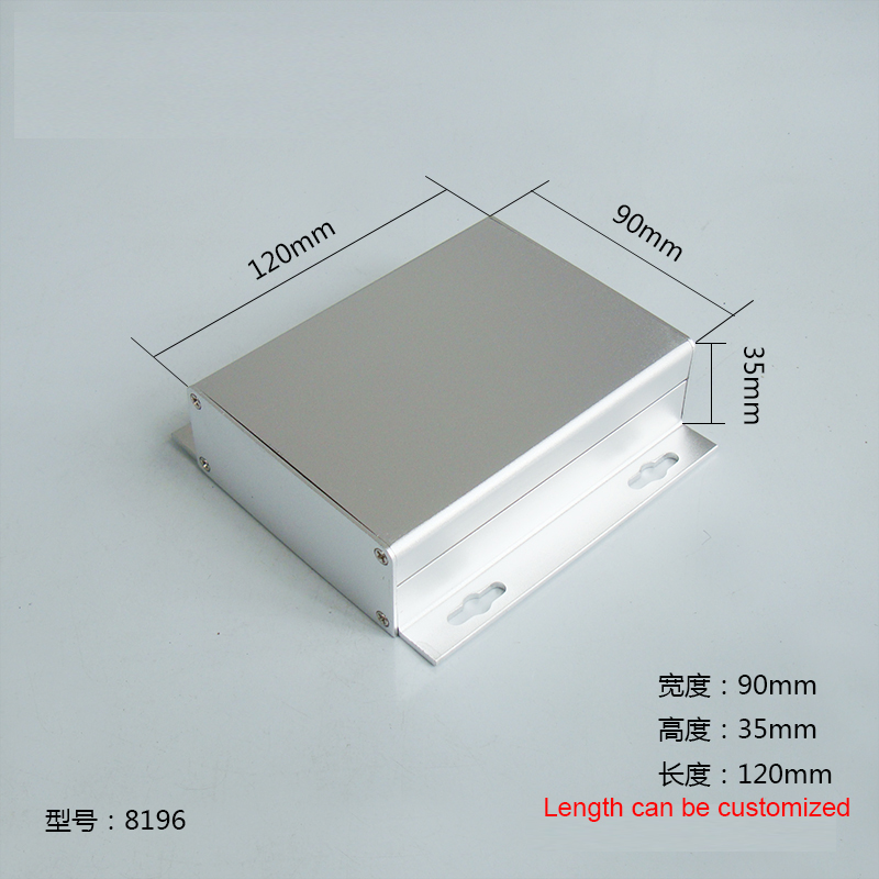 1pc Silver Aluminium Enclosure Case Mini Electronic Project Box with mounting ears 90x35x120mm 8196 4pcs a lot diy plastic enclosure for electronic handheld led junction box abs housing control box waterproof case 238 134 50mm