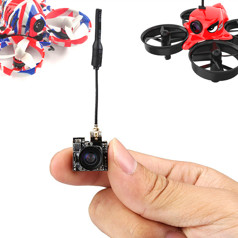 Mini FPV Camera 800TVL w/5.8G 25mw 40CH VTX Video Transmitter 150m Long Range Launcher for Indoor FPV Drone RC Hovercraft Car hc48 upgraded hc25 vm275t 5 8g 25mw 48ch mini tiny 520tvl camera build in fpv transmitter antenna for indoor brushed racer drone