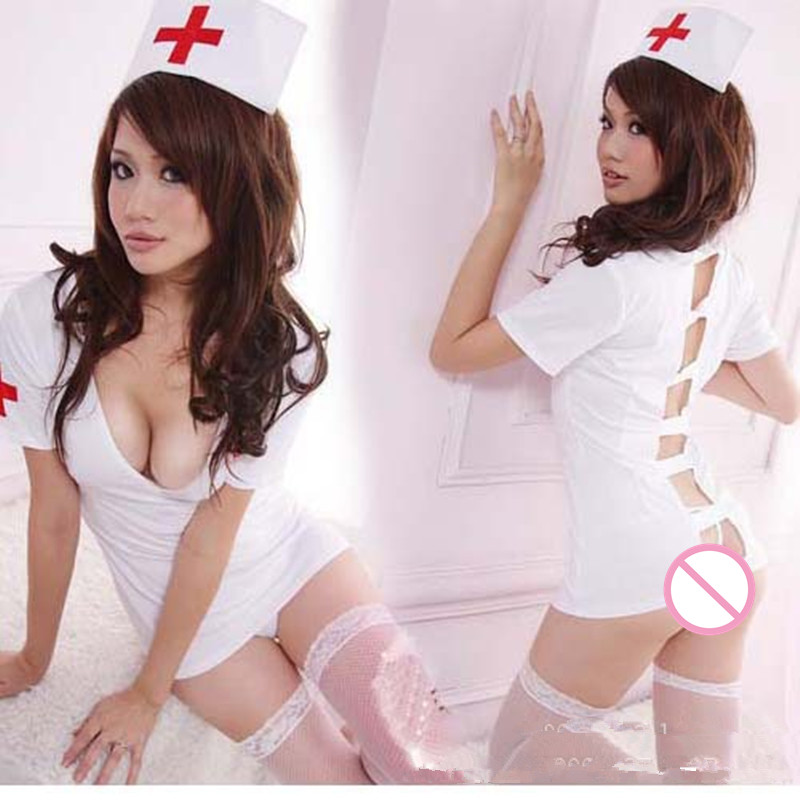 ZGOGO Sexy Slips For women intimate Female nurse white nightwear