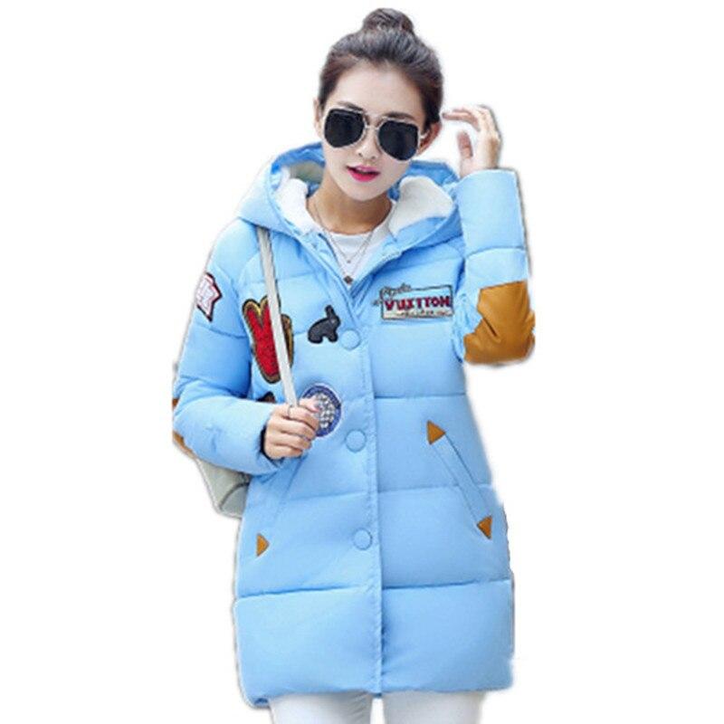 2016 Kış Yeni Kadın Kore Moda Büyük Metre İnce Aşağı Kızlar Uzun Bölüm Kalın Gevşek Ceket Kadın C59