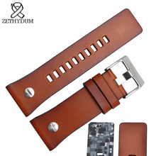 mens leather bracelet 28mm bands brown camouflage strap for diesel watc