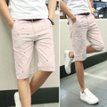 Новый бренд мужские шорты печати случайные мужские шорты мода хлопок шорты homme шорты цвета хаки, белый, зеленый