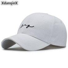 XdanqinX Snapback Caps For Men Women Cotton Embroidery Letter Baseball Cap Adjustable Size Fashion Couple Hat Unisex Tongue Cap cute letters lip tongue embroidery baseball cap for women