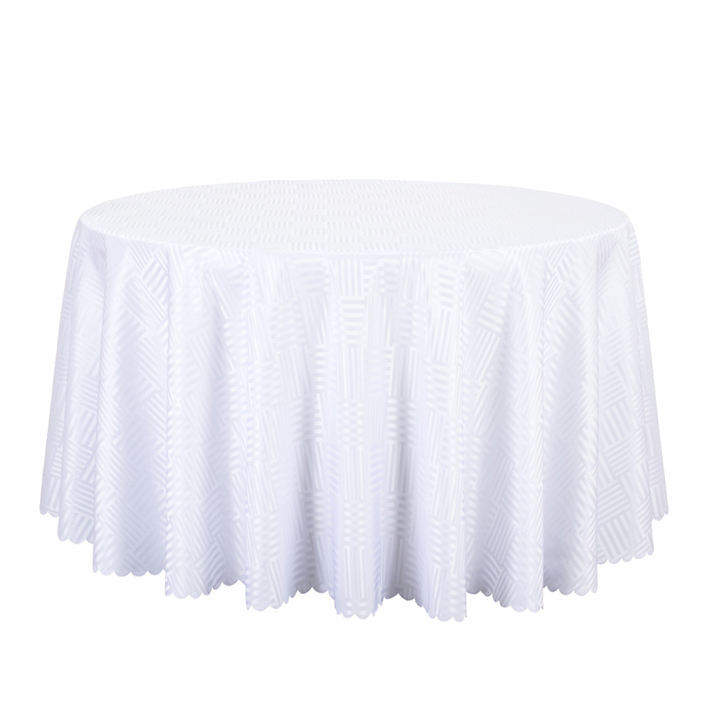 10PCS Jacquard Striped Round Tablecloth Red Gold White Table Covers Square  Table Linen Wedding Party Hotel Dining Table Cloths  In Tablecloths From  Home ...
