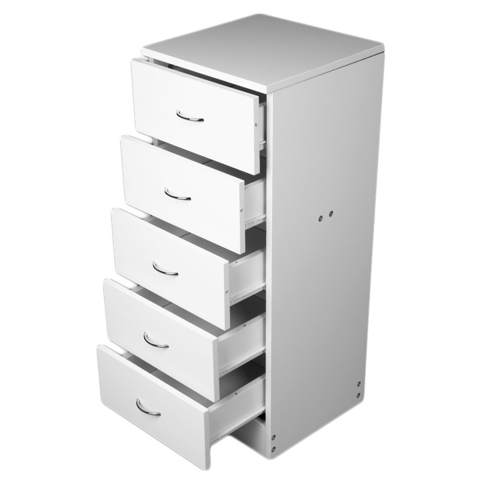 Tall narrow 5 drawer chest bedroom furniture hallway - Bedroom storage cabinets with drawers ...