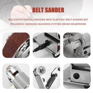 Image 5 - Winkel Grinder Schleifen Maschine Gürtel Grinder Mini Elektrische Gürtel Sander DIY Polieren Schleifen Maschine Cutter Kanten Spitzer