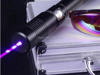 HOT! AAA High Power Military 500000m 450nm Blue Laser Pointer SOS Burning Match Candle Lit Cigarette Wicked Lazer Torch+Glasses
