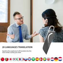 Intelligent 20 Languages Translator earphoneV5.0 Instant translator earphonesmart Wireless bluetooth Headset Dropshipping(China)