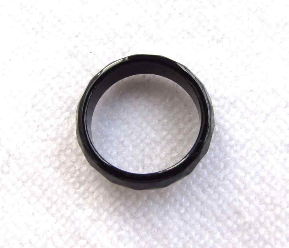 DYY 2016ใหม่สีดำธรรมชาติหยกนิลมือแกะสลักแหวนวงsize7-8.5 # fast
