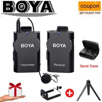 BOYA Universal Lavalier Wireless Microphone Mic For IOS Smartphone Tablet DSLR Camera Camcorder Audio Recorder PC