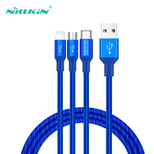 USB Micro Type C Cable For Huawei P30 Pro Xiaomi 9 NILLKIN iPhone Xr x Xs 6 7 Fast Charger Cables Multi Cord