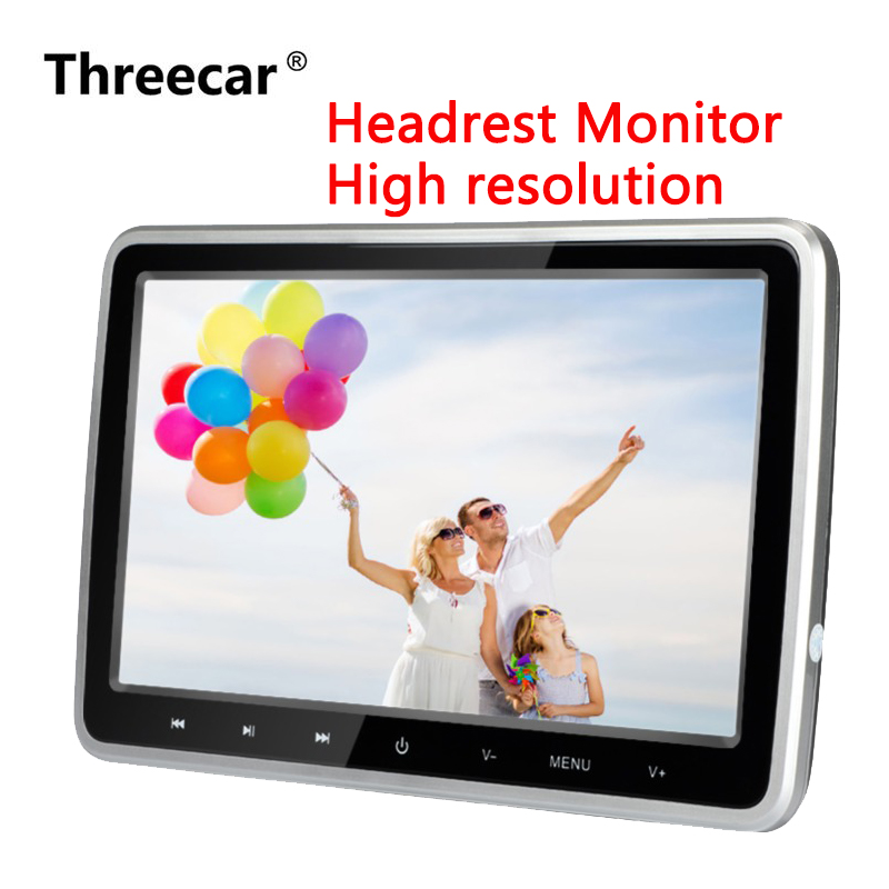 10 Inch HDMI DVD Monitors 1024x600 HD Digital LCD Screen Car Headrest Monitor car audio Player FM Car Headrest DVD Player цены