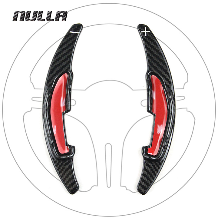NULLA Accessories Steering Wheel Extension Interior Paddle Shift Shifter Carbon Fiber For BMW M2 M3 M4 M5 M6 X6M DSG Sticker 2013 2015 black inner dsg paddle shifter extension fit for ford mondeo fusion