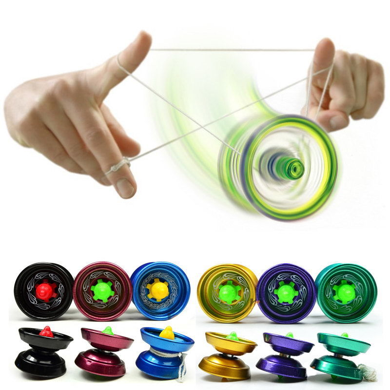 Original Magic Cool Aluminum Design Professional YoYo Ball Trick Alloy Kids Adult Toys N ...