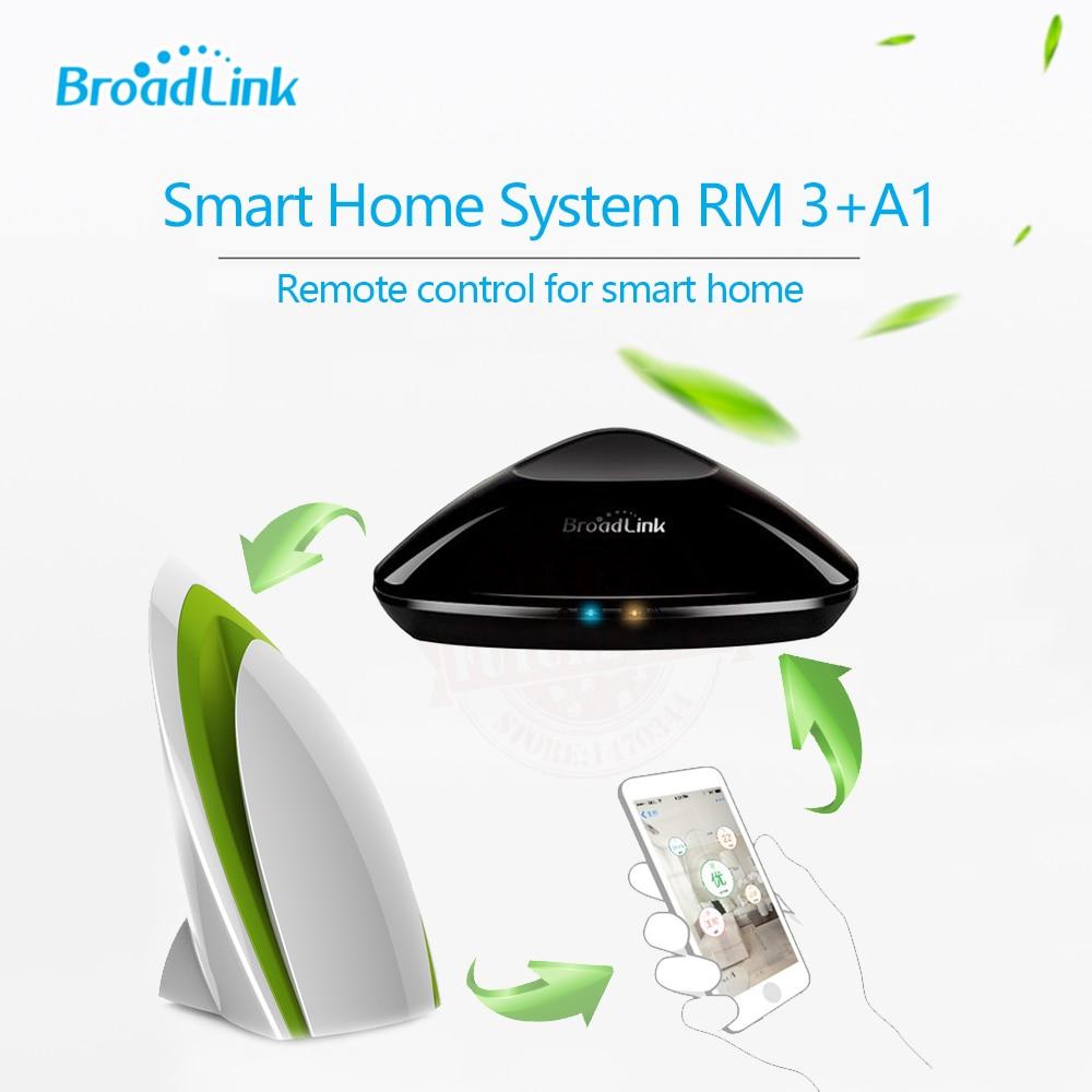 2017 Broadlink Rm3 RM Pro+ Smart Controller+A1 E-Air Quality Detector IR/RF/Wifi Intelligent Remote Control via IOS Android
