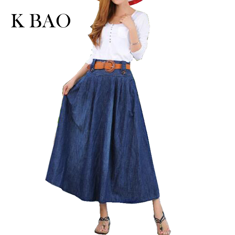 Online Get Cheap Plus Size Long Denim Skirts -Aliexpress.com