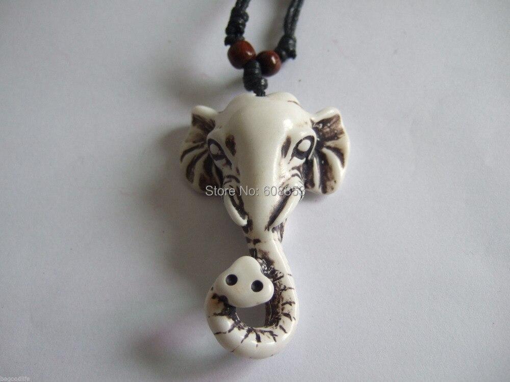 1pcs Ethnic Tribal Yak Bone Powder Resin Carving Elephant Necklace Pendant 61x42mm Elephant Necklace Yak Boneelephant Pendant Aliexpress