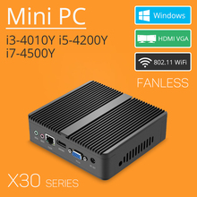 X30 Fanless Mini PC Windows Intel Core i7-4500Y i5-4200Y i3-4010Y 4GB 8GB RAM Micro PC HDMI VGA WiFi minipc TV Box HTPC