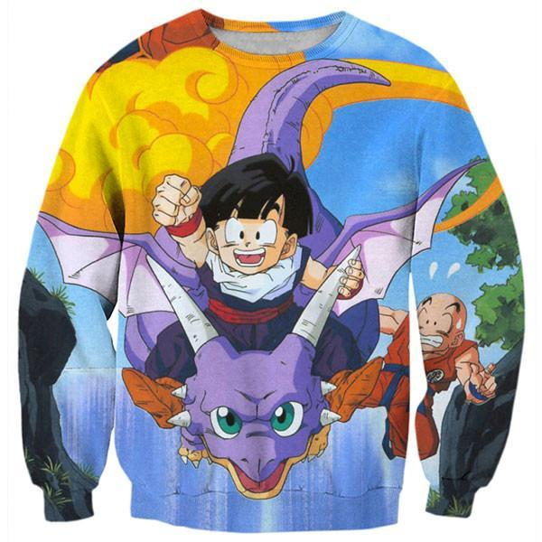 2017 NEW FASHION STYLE MEN WOMEN Dragon Ball Z naughty Goku Sweat shirts Pullovers Tracksuit Streetwear Loose Thin Hoody Top