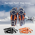 Soumit 18 Teetch Stainless Steel Anti-slip Non-slip Ice Cleat Set Outdoor Climing Snow Ice Shoes Cover Ice Claws Shoe Ice Cleats
