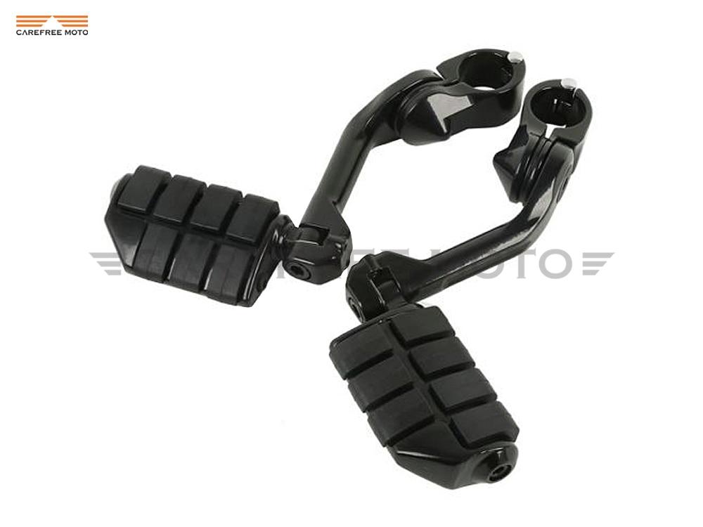 1 25 32mm Black Motorcycle Anti Vibration Foot Pegs Footrest Case for Yamaha Honda VT600 VT750
