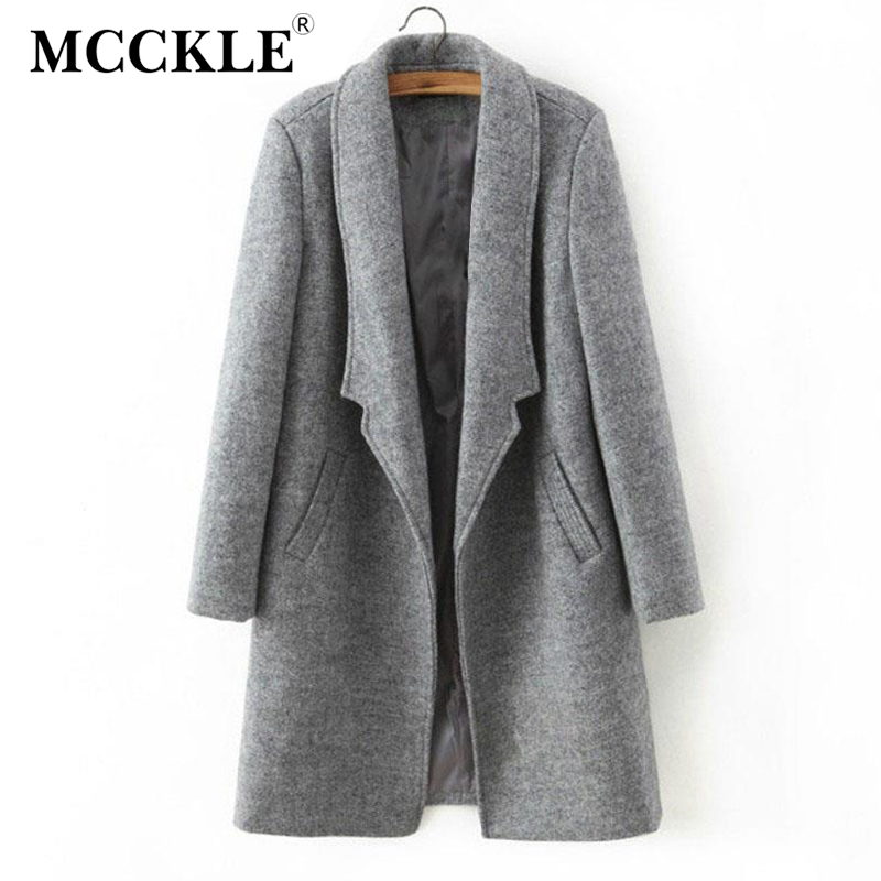 Women Grey Coat Promotion-Shop for Promotional Women Grey Coat on ...