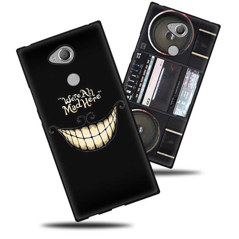 EiiMoo etui na telefon do Sony Xperia XA2 Plus etui silikonowe miękka okładka śliczny wzór telefon Coque do Sony Xperia XA2 XA 2 Plus etui
